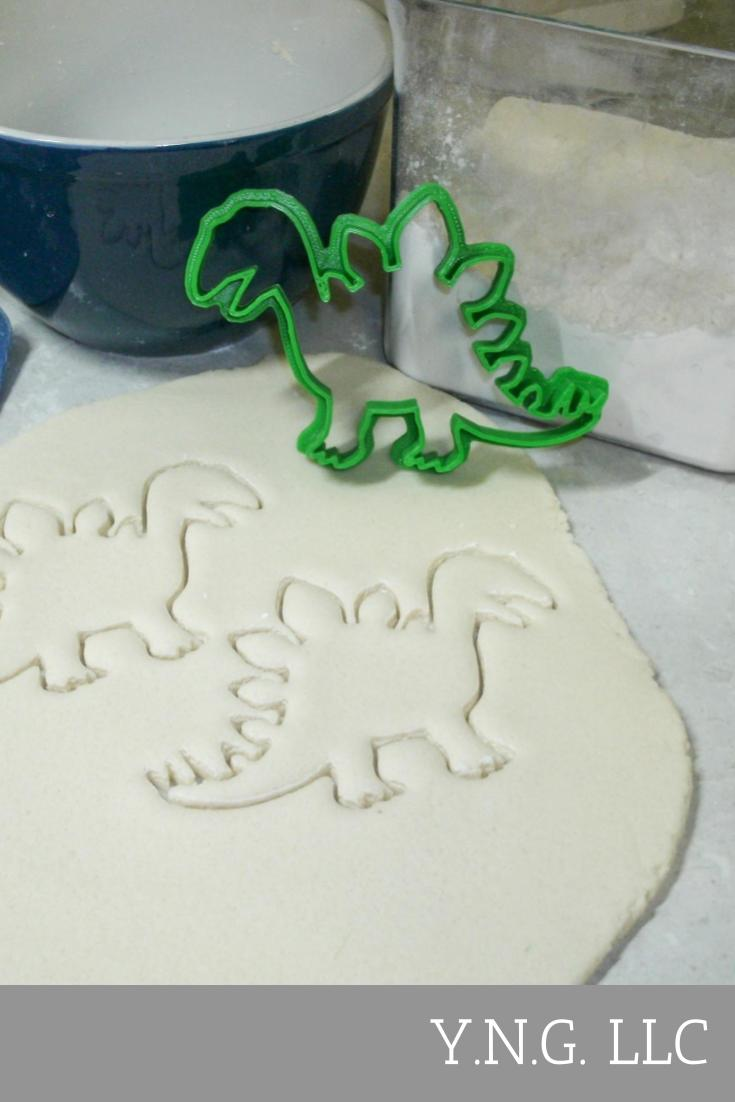 Stegosaurus Dinosaur Dino Kids Party Special Occasion Cookie Cutter Baking Tool Made In USA PR445