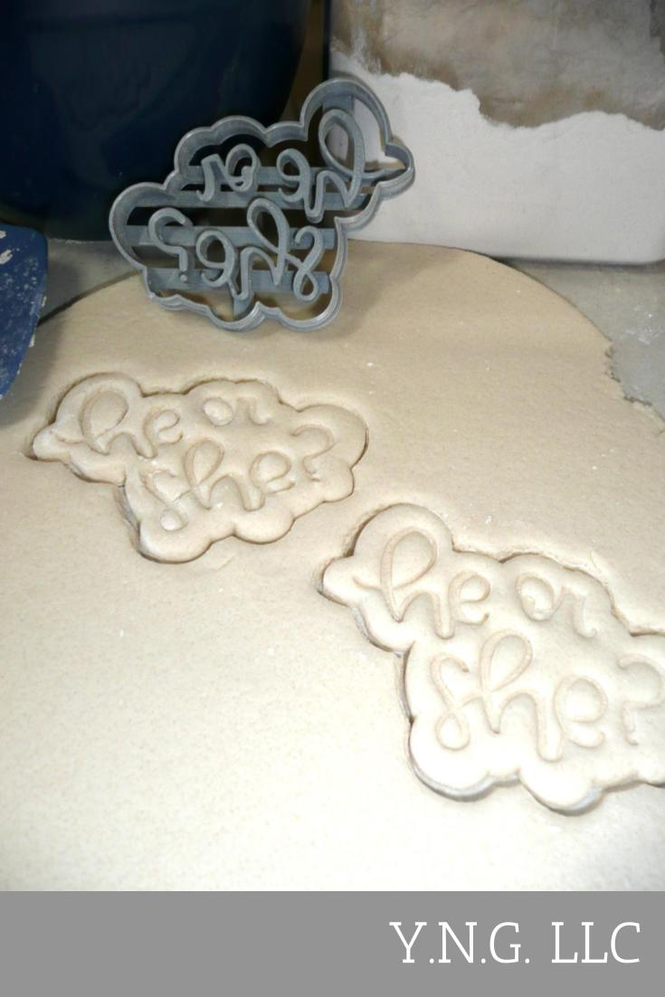 Pirate Or Pixie Gender Reveal Baby Shower Set Of 3 Cookie Cutters USA PR1194