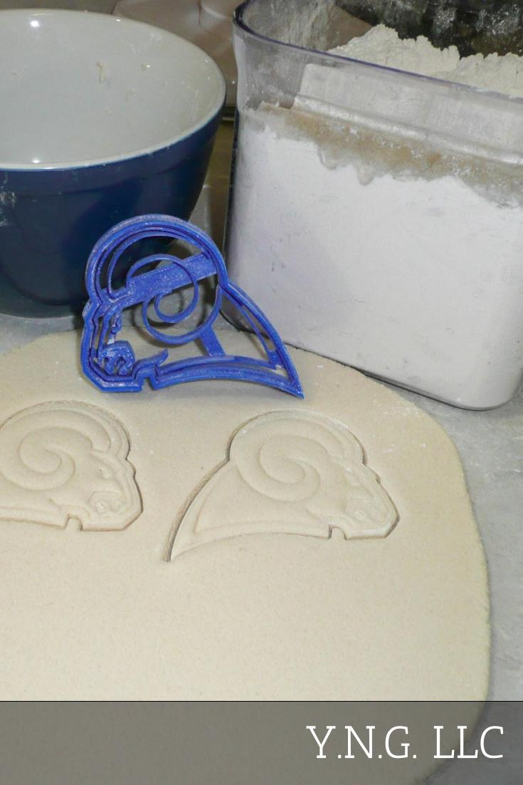 Los Angeles Rams NFL Football Logo Special Occasion Cookie Cutter Baking Tool 3D Printed Made In USA PR977
