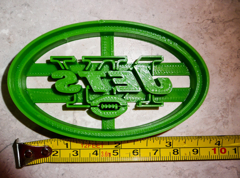 New York Jets NFL Football Logo Special Occasion Cookie Cutter Baking Tool 3D Printed Made In USA PR951