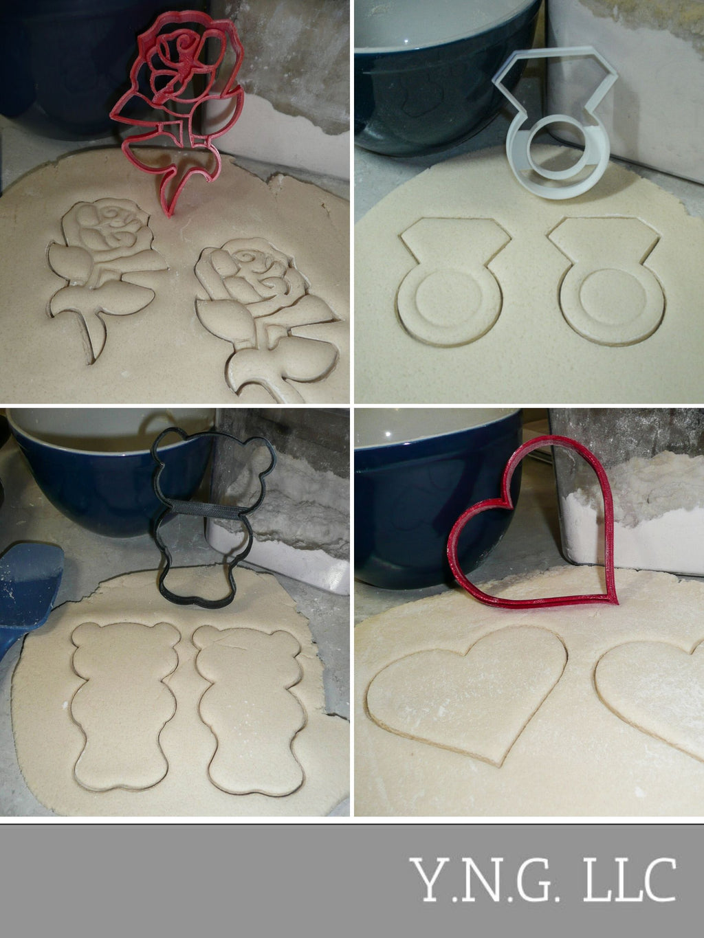 Valentines Day Gift or Proposal Set of 4 Cookie Cutters USA PR1468