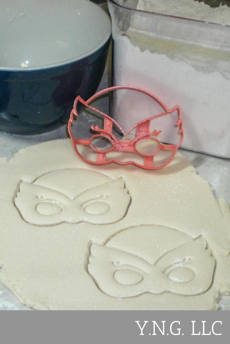 Owlette Owlet Mask with Details PJ Masks Kids TV Show Character Special Occasion Cookie Cutter Baking Tool Made in USA PR828