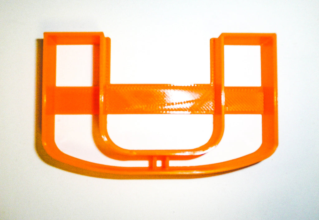 University Of Miami Hurricanes Football Logo NCAA D1 Special Occasion Cookie Cutter Baking Tool 3D Printed Made In USA PR926