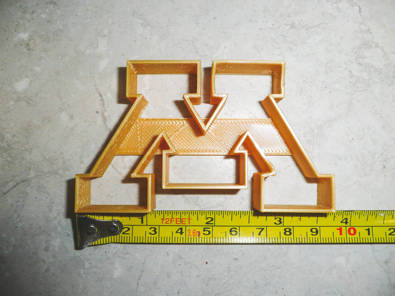 University Of Minnesota Golden Gophers Football Logo NCAA D1 Special Occasion Cookie Cutter Baking Tool 3D Printed Made In USA PR928