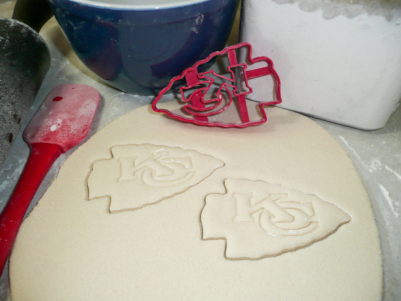 Kansas City Chiefs NFL Football Logo Special Occasion Cookie Cutter Baking Tool Made In USA PR975