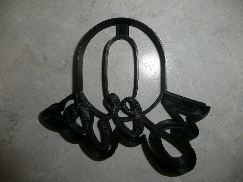 Number Zero 0 Fancy Word Lettered Birthday Anniversary Cookie Cutter USA PR2999