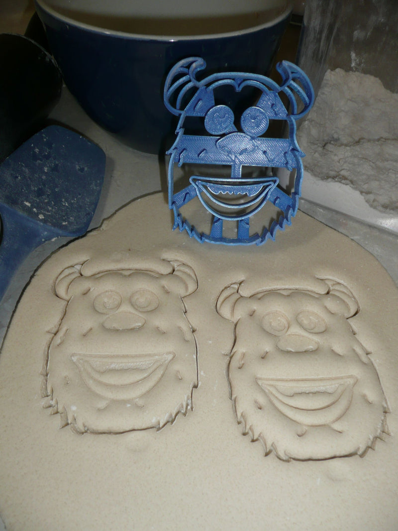 Sulley Sully Detailed Face Monsters Inc Movie Character Cookie Cutter USA PR2922