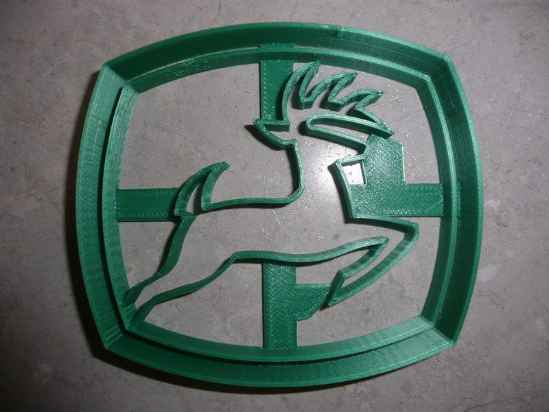 John Deere Logo Farm Tractor Heavy Equipment Cookie Cutter USA PR2990