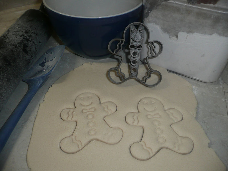Gingerbread Couple Boy And Girl Christmas Set Of 2 Cookie Cutters USA PR1393