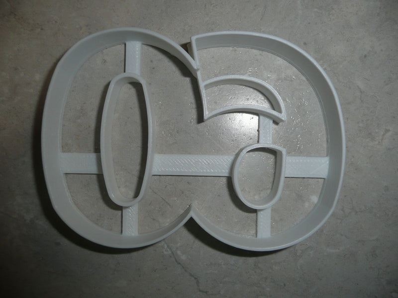 Number 60 Sixty Anniversary Birthday Sports Party Cookie Cutter USA PR108-60