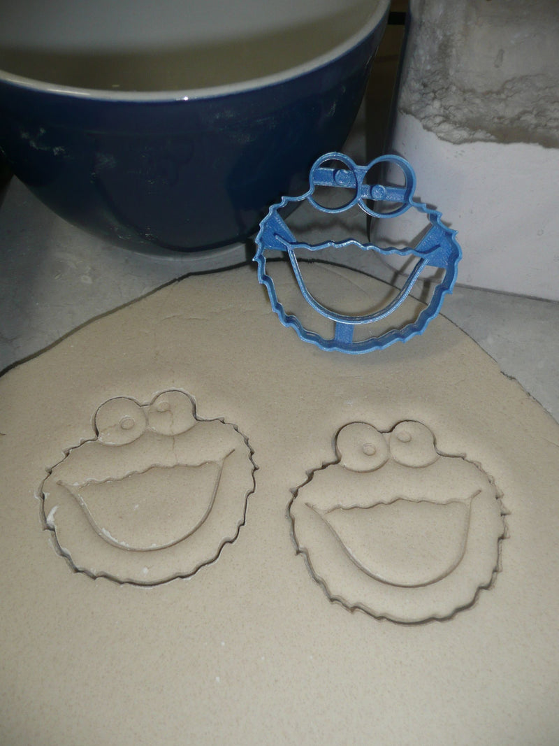 Cookie Monster Sesame Street Cookie Cutter Baking Tool Made In USA PR546