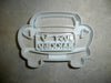 Just Married Sign On Wedding Getaway Car Newlyweds Cookie Cutter USA PR3012