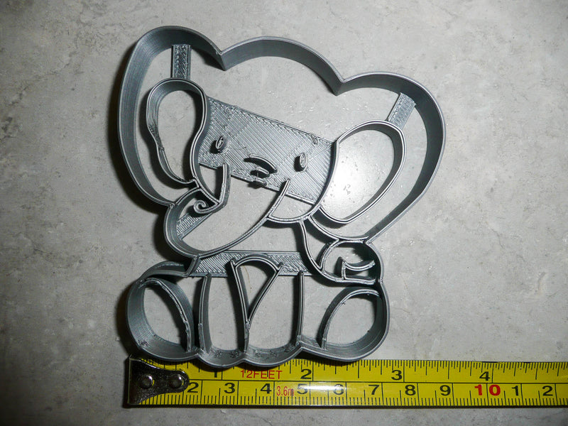 Baby Elephant Detailed Calf Gentle Giant Animal Zoo Cookie Cutter USA PR2558