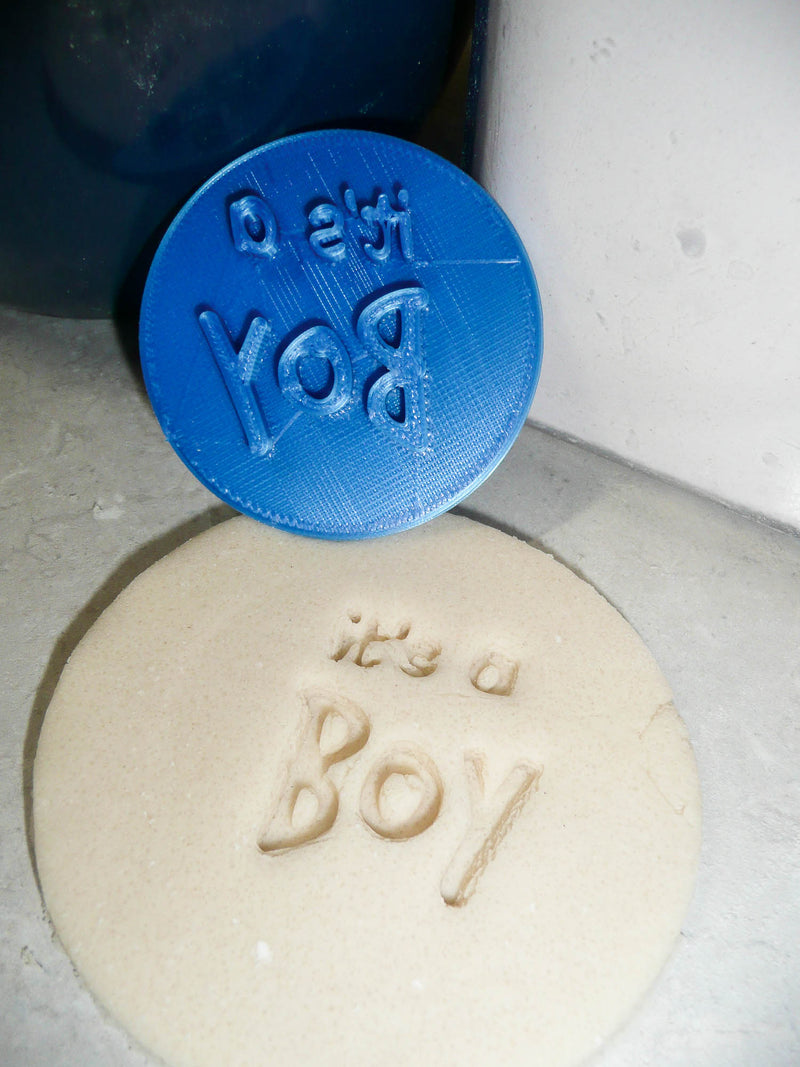 Its A Boy Text Words Baby Shower Gender Reveal Cookie Stamp Embosser USA PR2823