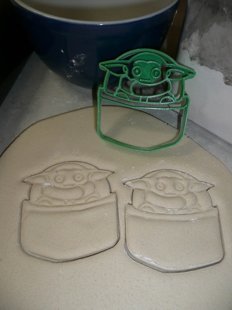 Baby Yoda In Pod Adorable Green Space Child Star Wars Cookie Cutter USA PR3302