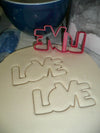 Love Word Block Letters Outline Valentines Wedding Cookie Cutter USA PR3323
