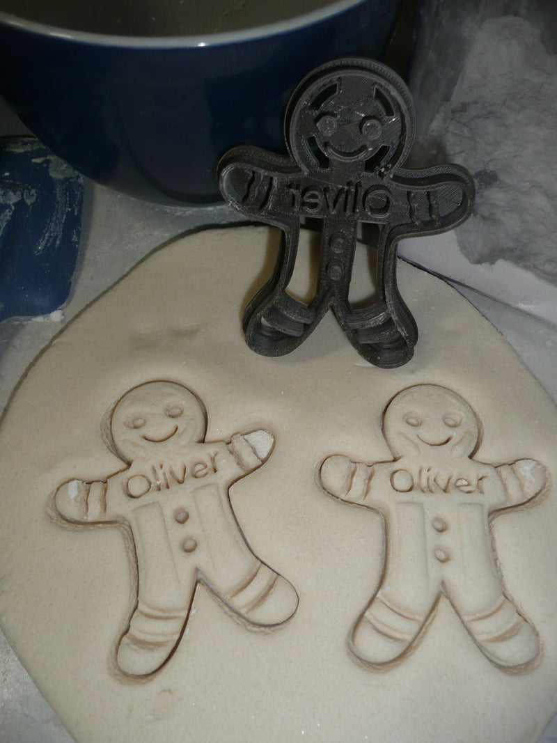 Gingerbread Man Personalized Christmas Cookie Cutter USA PR2309