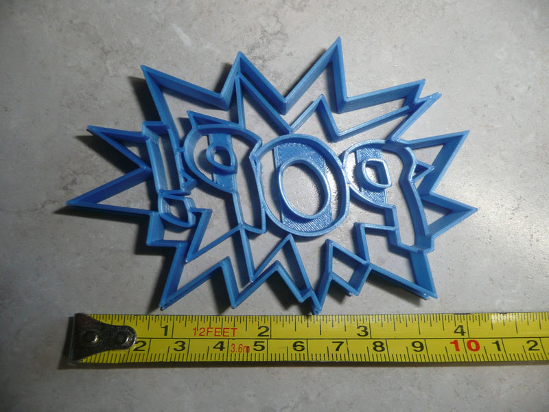 Pop Sign Quote Superhero Comic Book Cookie Cutter USA PR3199