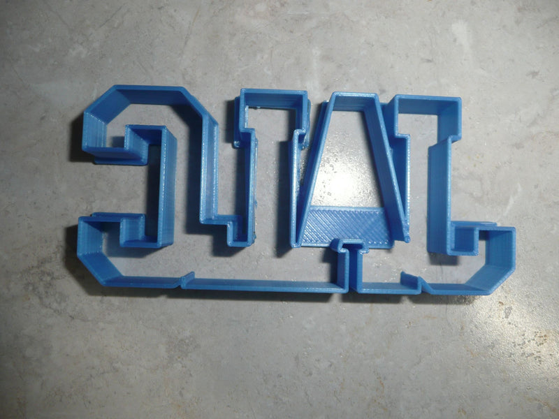 JALC Letters John A Logan Community College Athletics Cookie Cutter USA PR3361