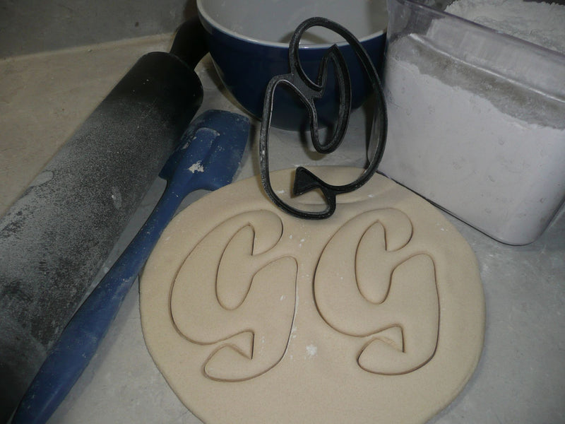 Letter G Uppercase Fancy Stylized Font Alphabet Cookie Cutter USA PR3334