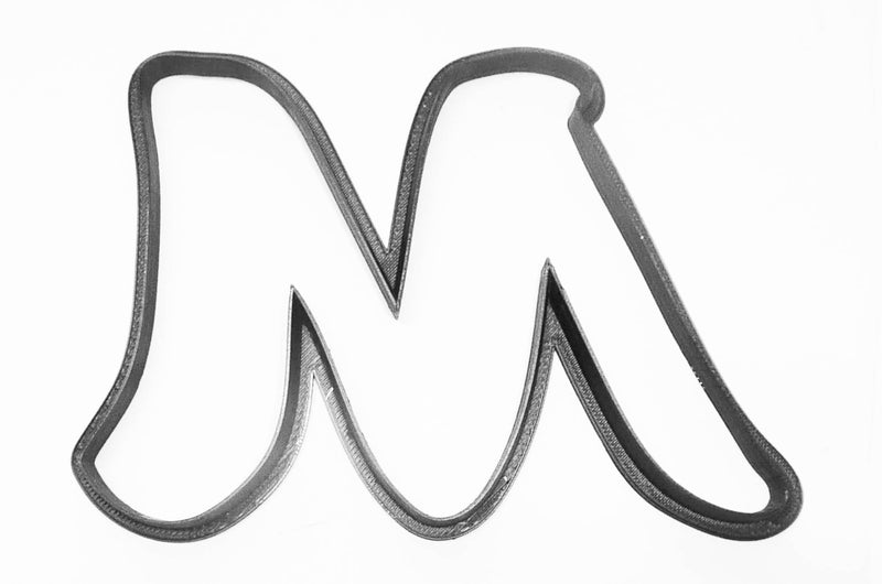 Letter M Uppercase Fancy Stylized Font Alphabet Cookie Cutter USA PR3340
