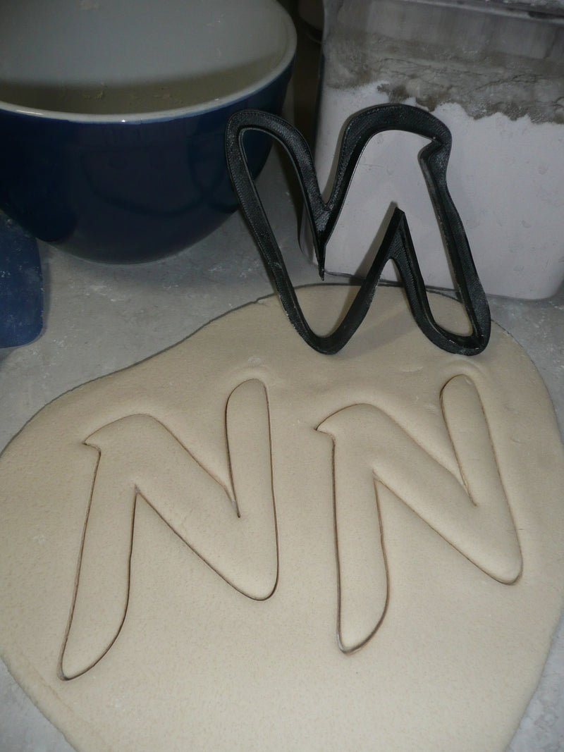 Letter N Uppercase Fancy Stylized Font Alphabet Cookie Cutter USA PR3341