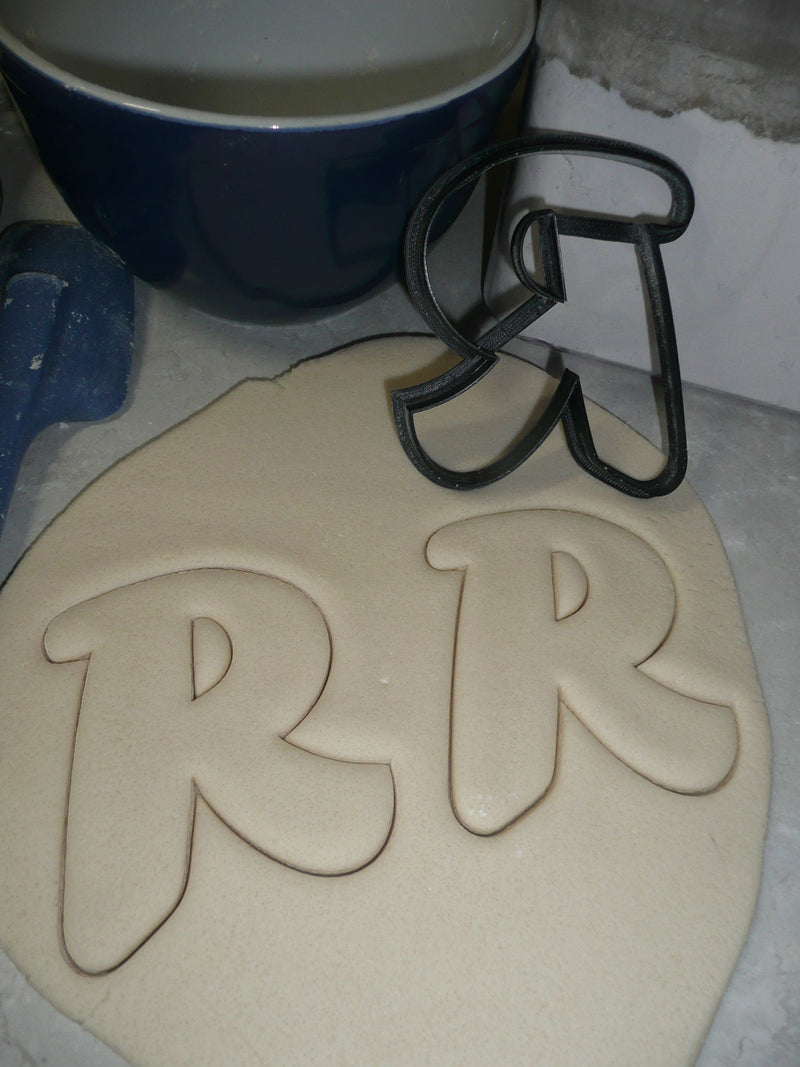 Letter R Uppercase Fancy Stylized Font Alphabet Cookie Cutter USA PR3345