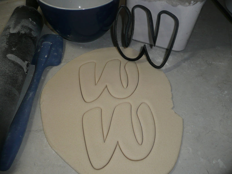 Letter W Uppercase Fancy Stylized Font Alphabet Cookie Cutter USA PR3350