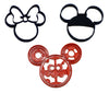 "Oh Toodles Minnie Mickey Mouse Clubhouse Set Of 3 Special Occasion Fondant Stamp Cutter or Cupcake Topper Size 1.75"" Made in USA FD1038"