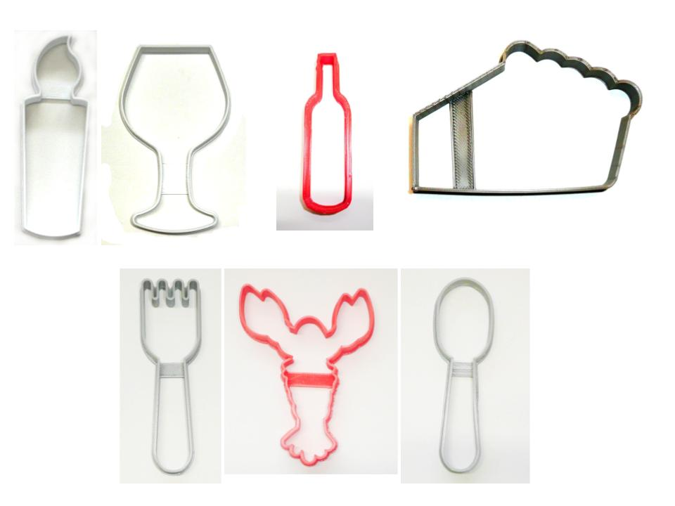 Fancy Restaurant Fine Dining Candlelight Set Of 7 Cookie Cutters USA PR1534