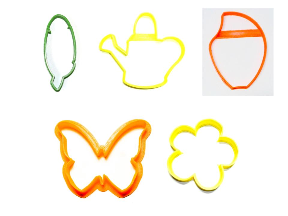 Flower Garden Butterfly Flowers Petal Leaf Set Of 5 Cookie Cutters USA PR1537