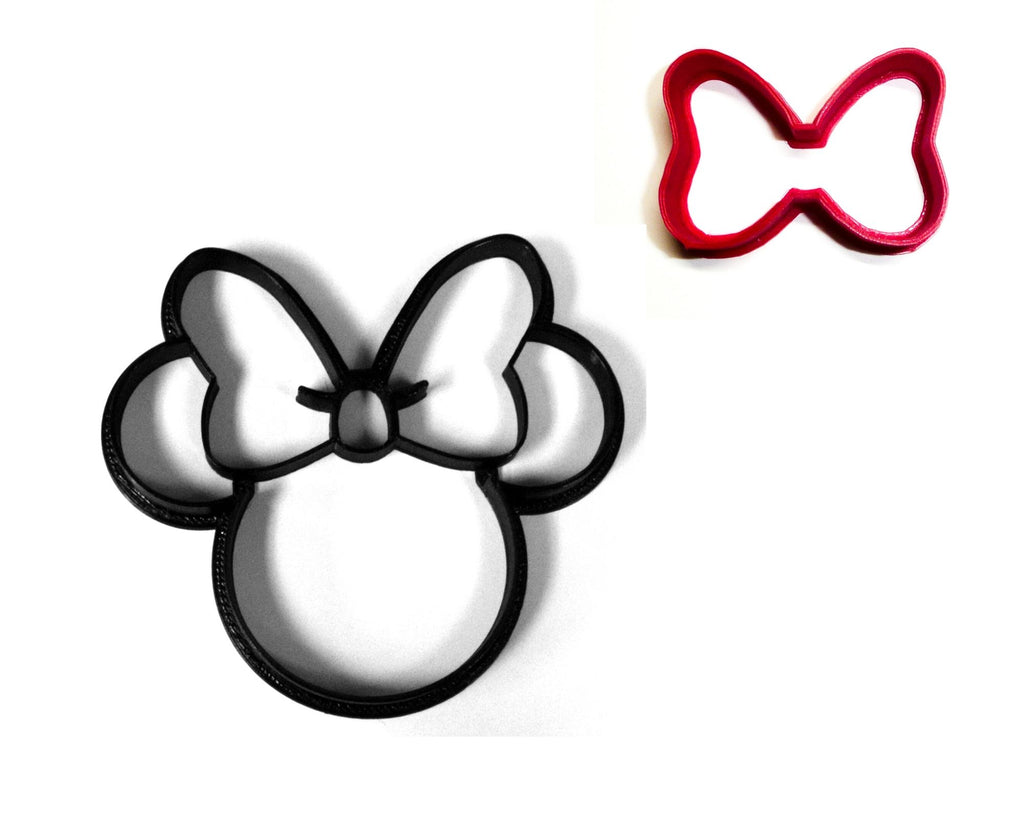 Minnie Mouse And Her Bow Cartoon Character Set Of 2 Cookie Cutters USA PR1539