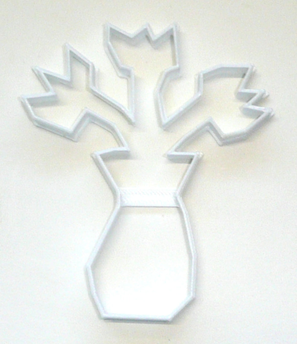 Flowers In A Vase Special Occasion Cookie Cutter Baking Tool Made in USA PR254