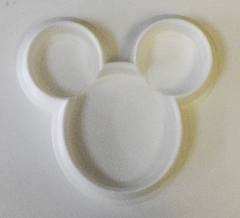 "6x Mickey Mouse Head Fondant Cutter Cupcake Topper Size 1.75"" USA FD307"