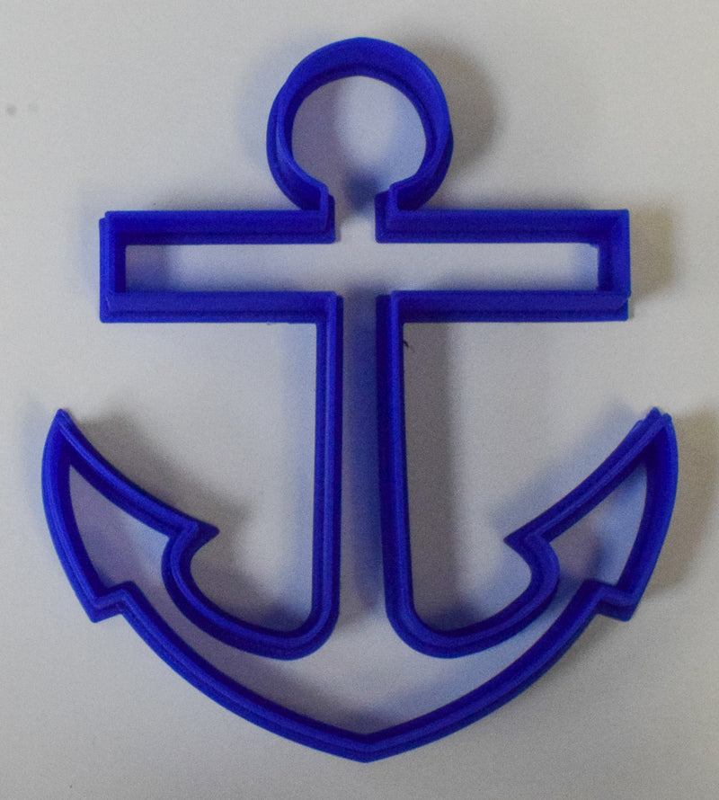 "Anchor Nautical Special Occasion Fondant Stamp Cutter or Cupcake Topper Size 1.75"" Made in USA FD311"