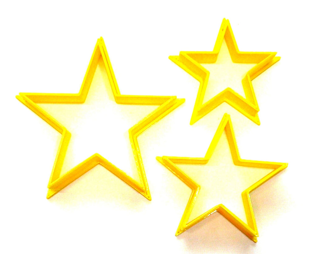 Stacking Star 3 Piece Set Outline Stars Cookie Cutters Baking Tool USA PR3190