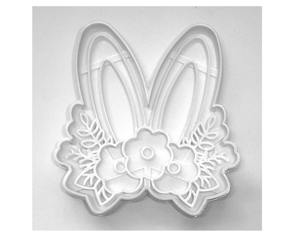 Floral Bunny Ears Flower Rabbit Easter Spring Cookie Cutter USA PR3452