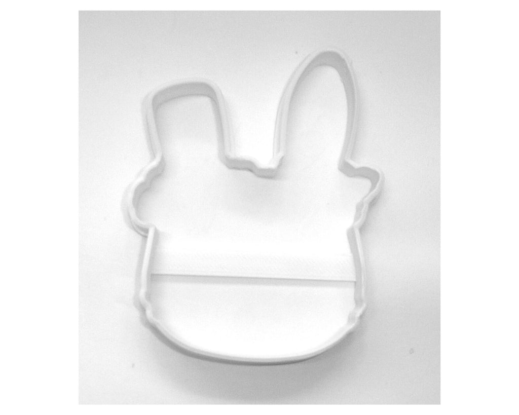 Bunny Face With Flowers Outline Rabbit Floral Easter Cookie Cutter USA PR3455