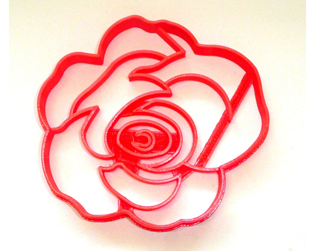 Flower 2 Rose Bloom Flowers Cookie Cutter Baking Tool USA PR3461
