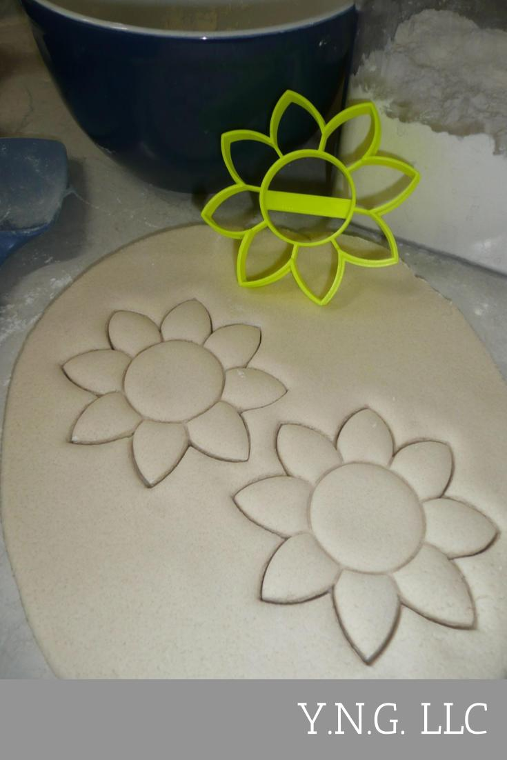 Flower 4 Sunflower Bloom Flowers Cookie Cutter Baking Tool USA PR3463