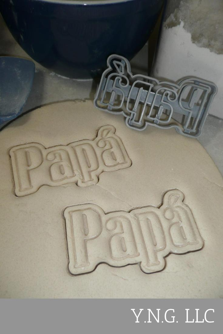 Papa With Accent Spanish For Dad Father Daddy Cookie Cutter USA PR3469