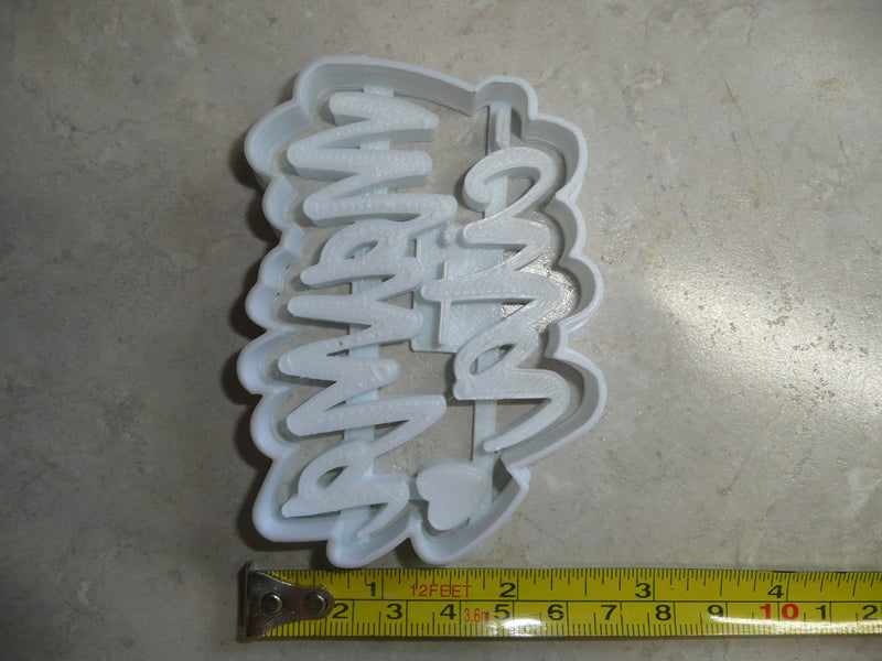 Mamacita Mama-cita With Heart Spanish Cookie Cutter Baking Tool USA PR3478