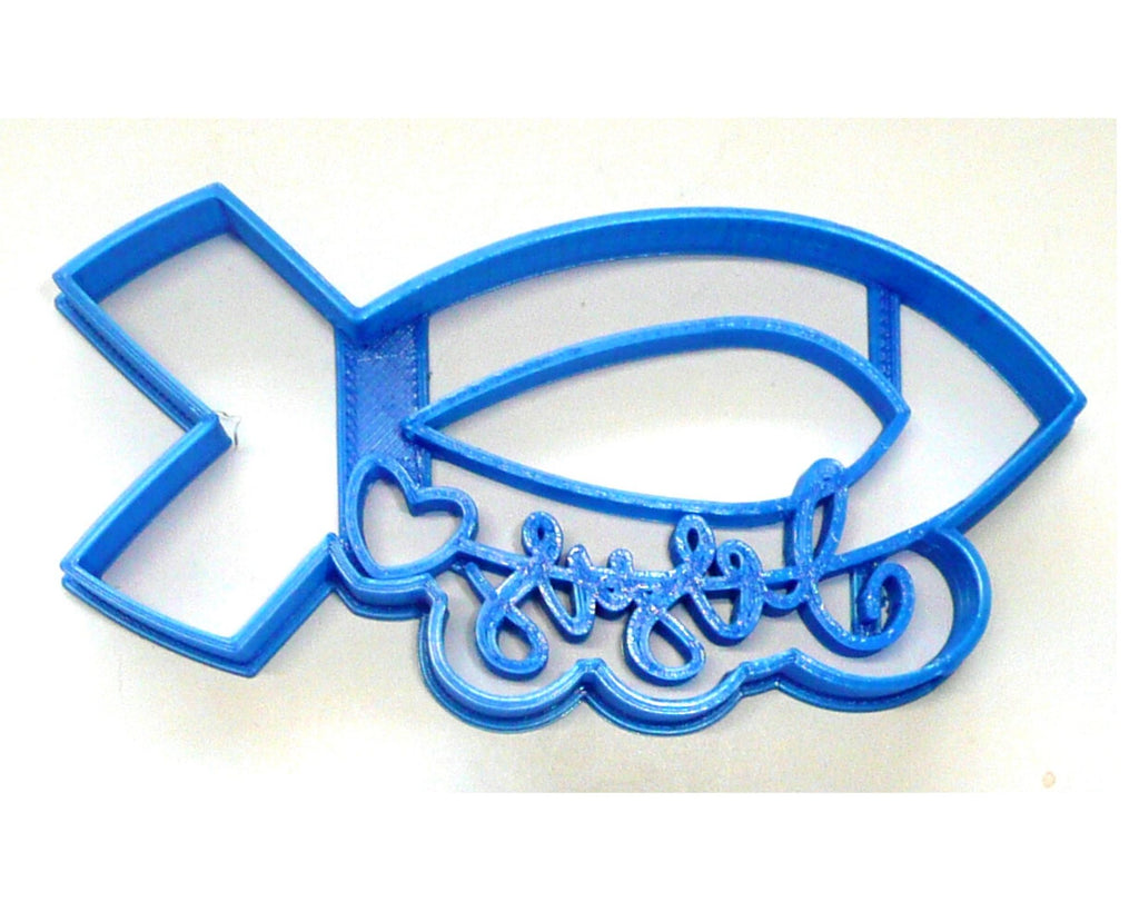 Jesus With Fish Symbol And Heart Christian Religious Cookie Cutter USA PR3479