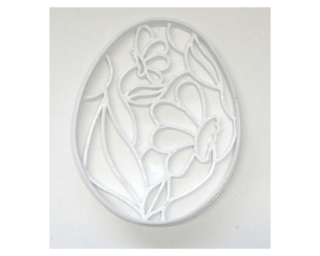 Easter Egg With Flowers Decorative Floral Spring Cookie Cutter USA PR3492