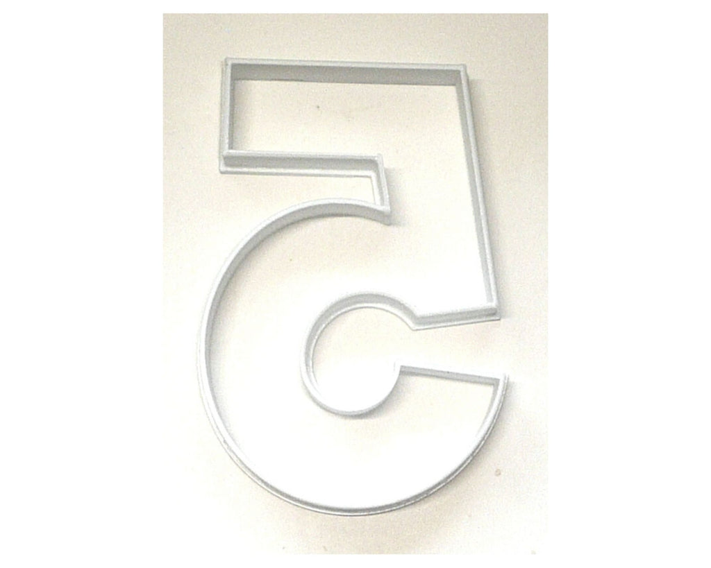"Number Five 5 Birthday Anniversary Large Size 4"" Cookie Cutter USA PR3805"