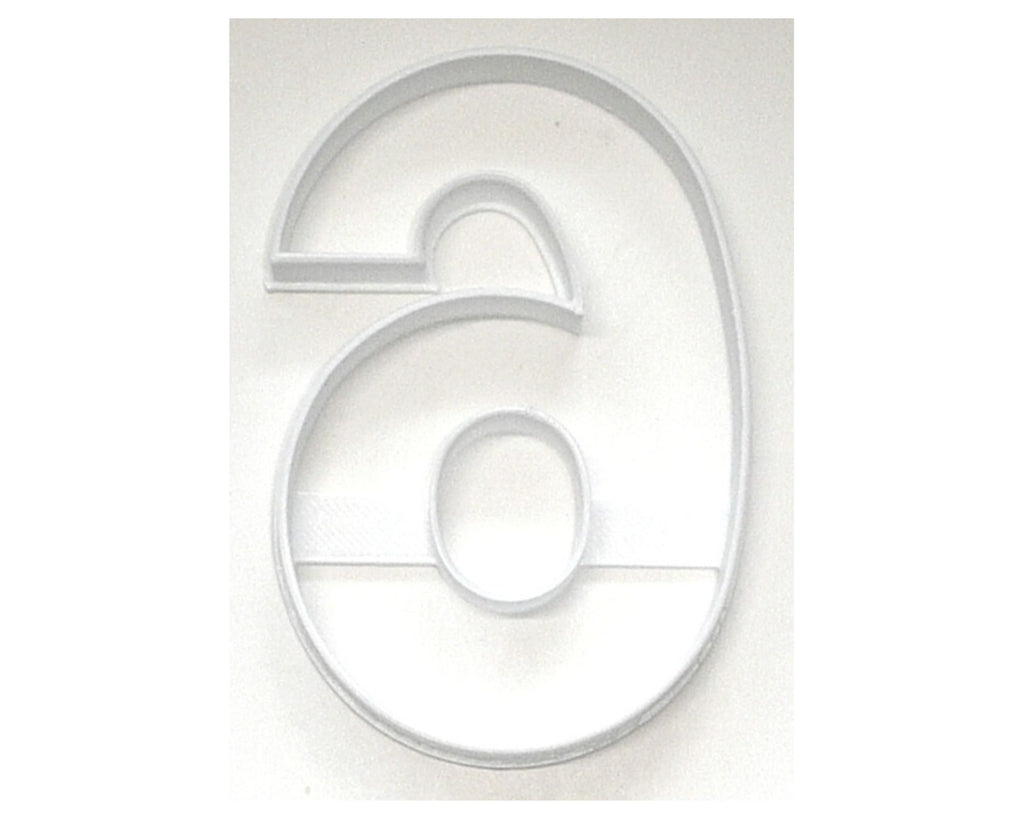 "Number Six 6 Or Nine 9 Birthday Large Size 4"" Cookie Cutter USA PR3806"