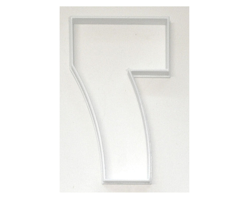 "Number Seven 7 Birthday Anniversary Large Size 4"" Cookie Cutter USA PR3807"