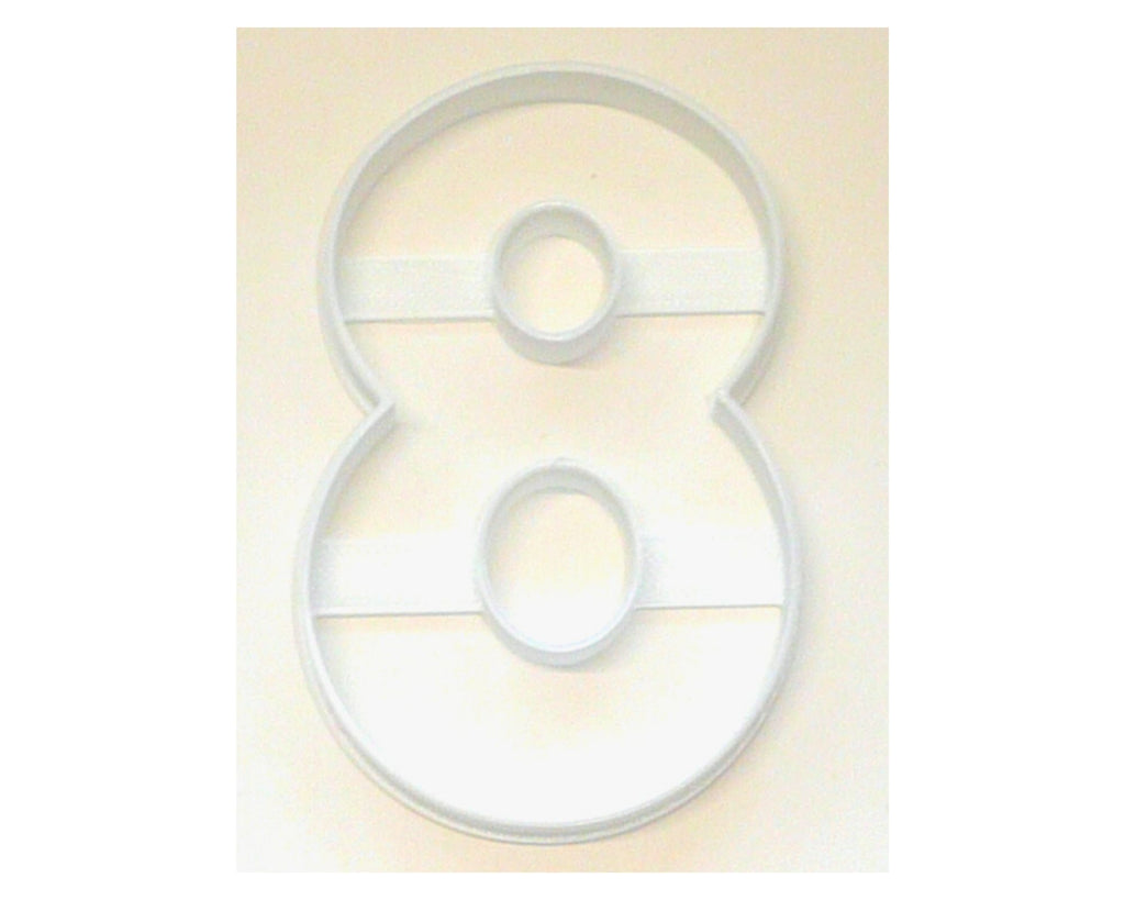 "Number Eight 8 Birthday Anniversary Large Size 4"" Cookie Cutter USA PR3808"
