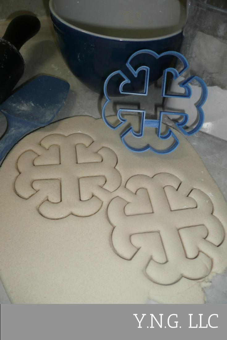 French Cross Outline Sacred Religious Symbol Cookie Cutter USA PR3838
