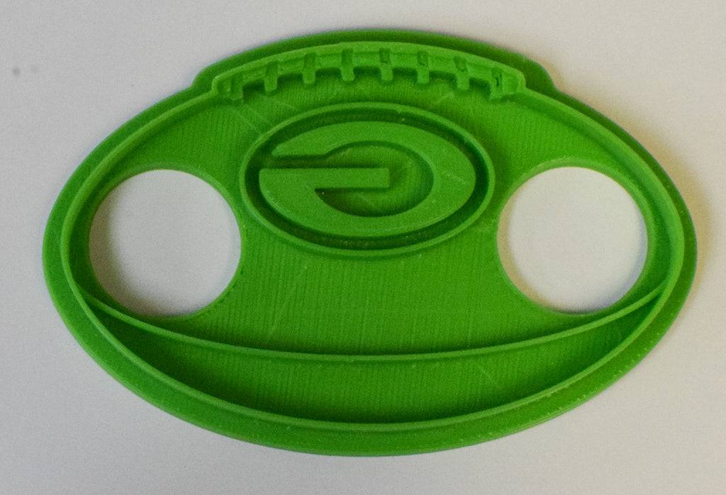 "Green Bay Packers Football Sports Special Occasion Fondant Stamp Cutter or Cupcake Topper Size 1.75"" Made in USA FD480"
